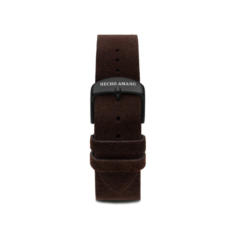Suede Leather Strap Black Back