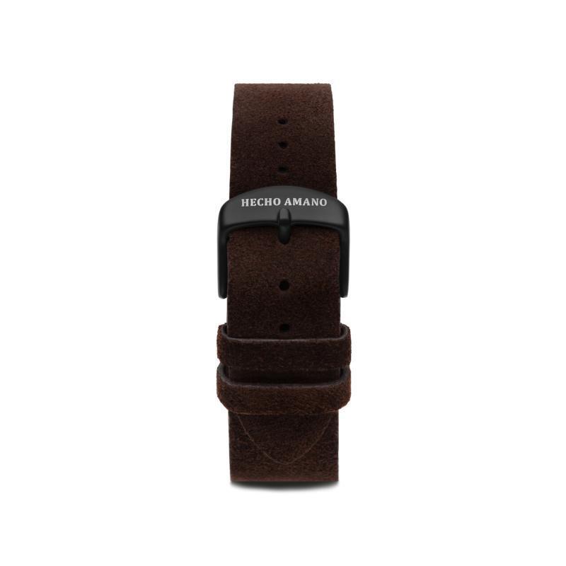 Suede Leather Strap Black Back