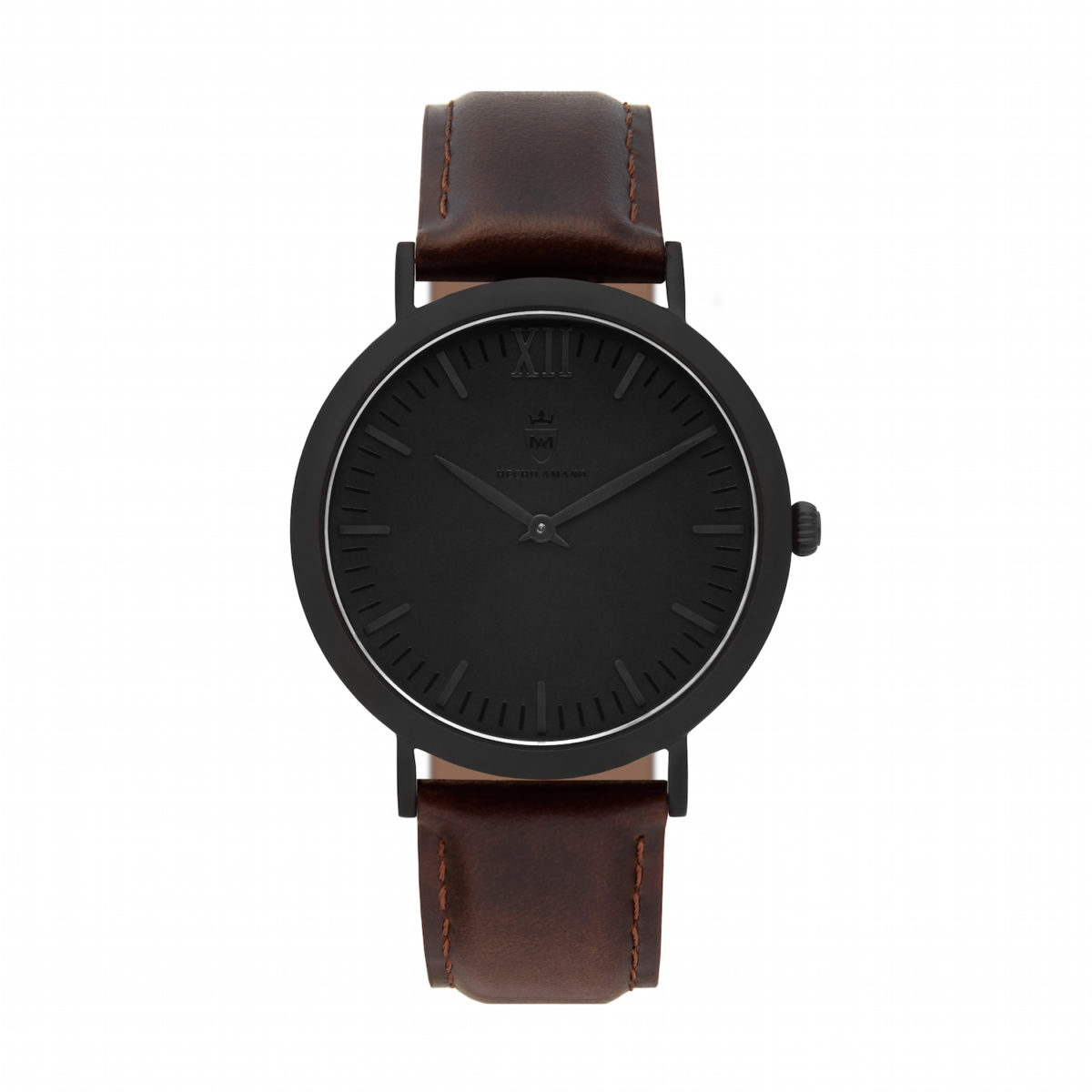 "All Black ""Brown Smooth Leather"""