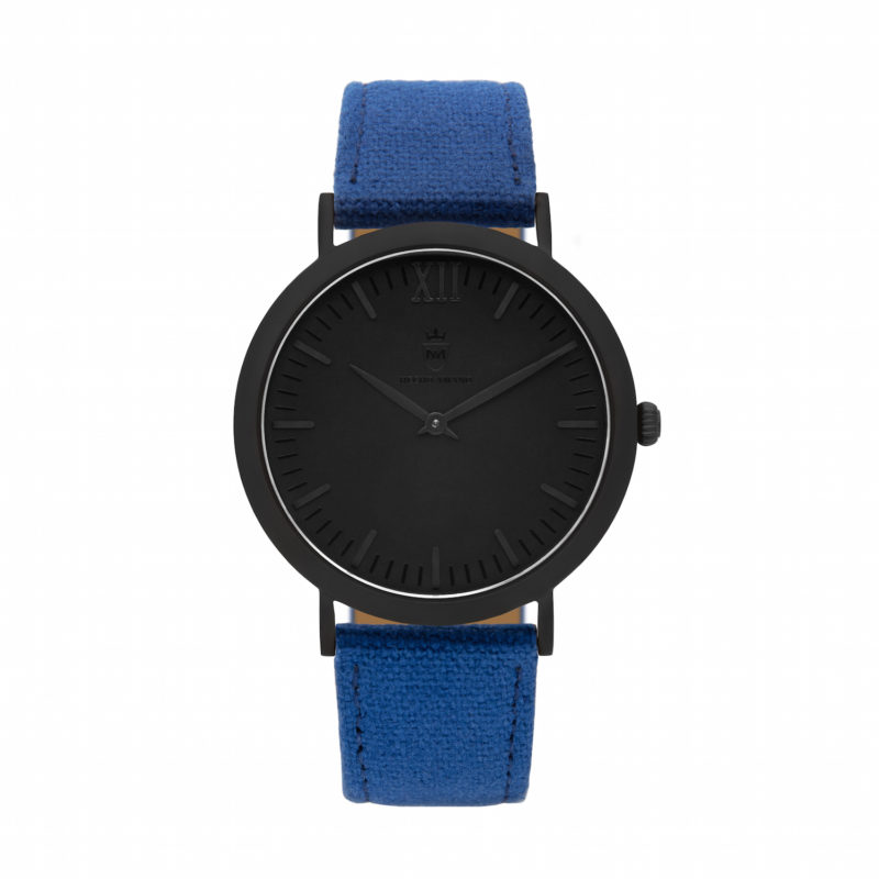 All BlackBlue Canvas Calf Leather