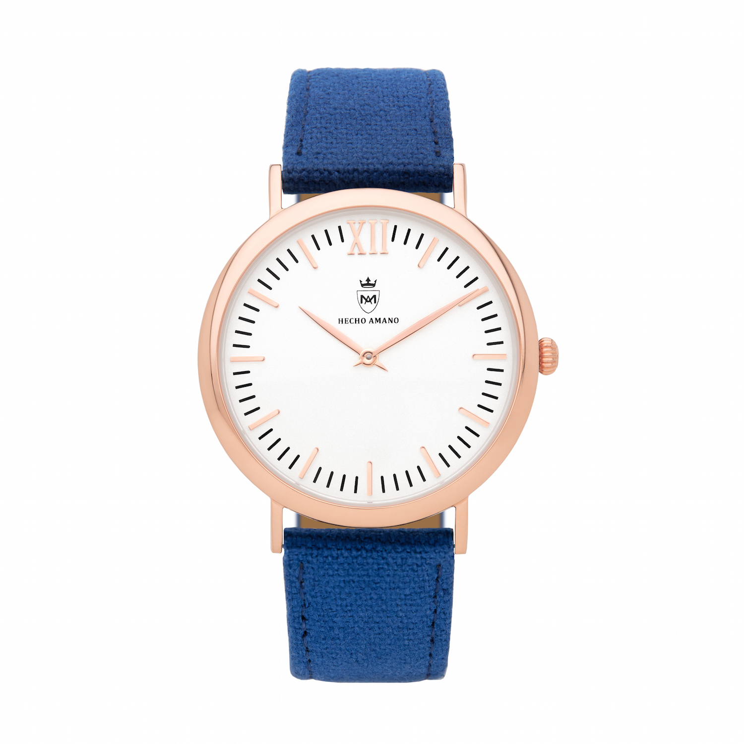 Rose Blue Canvas Calf Leather