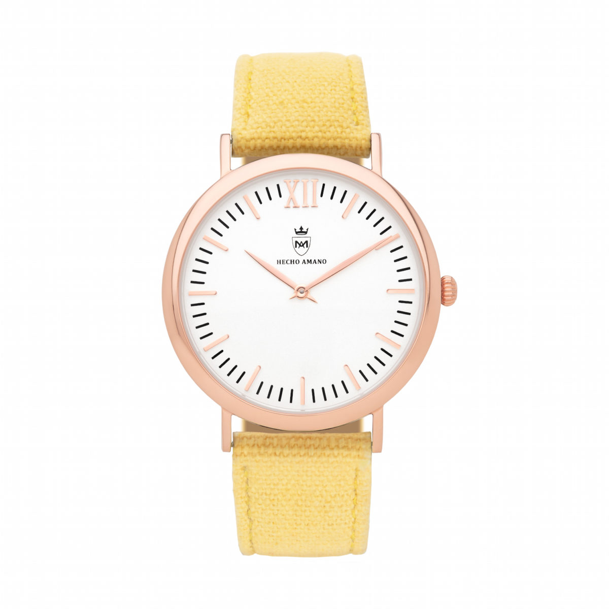 Rose Yellow Canvas Calf Leather