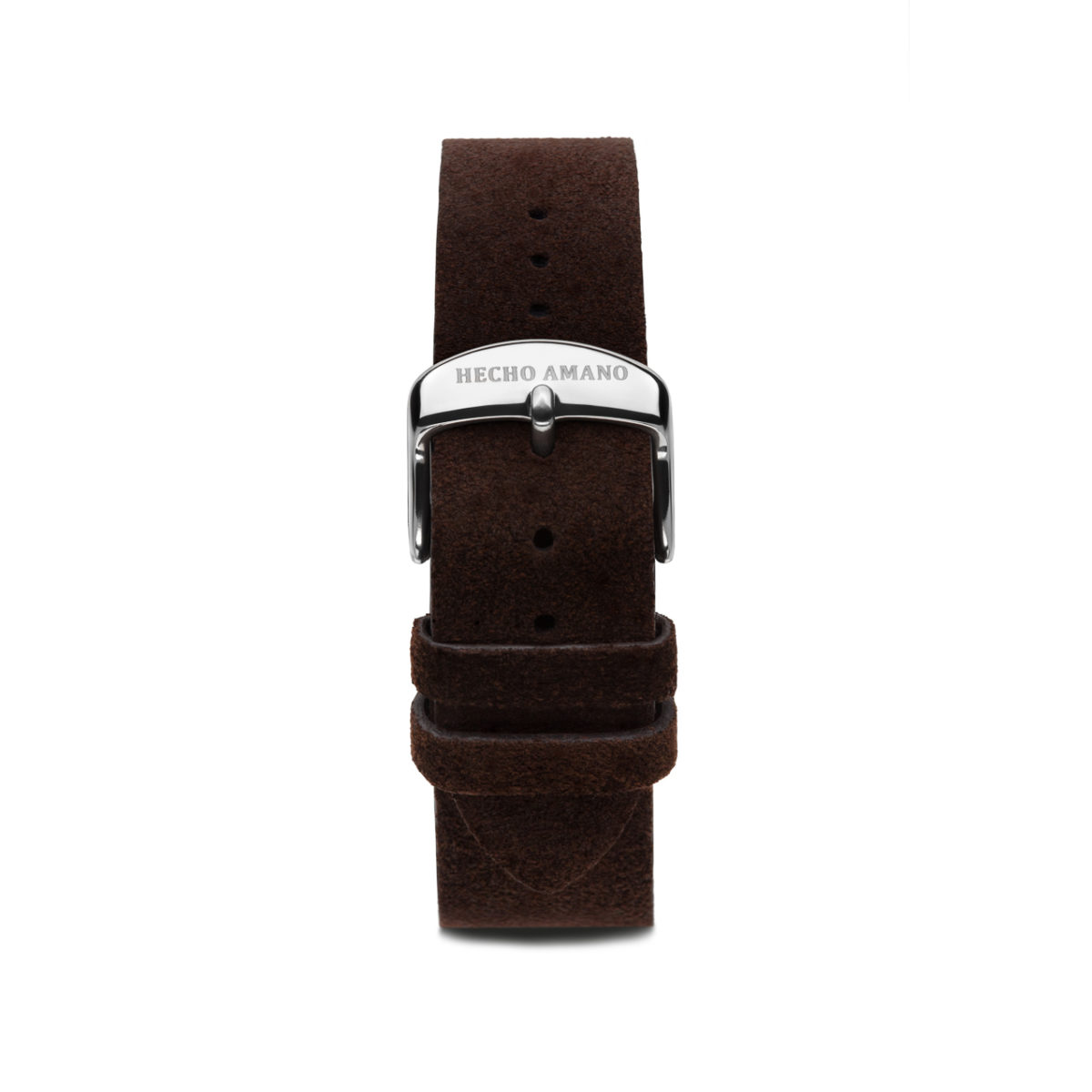 Suede Leather Strap Silver Back